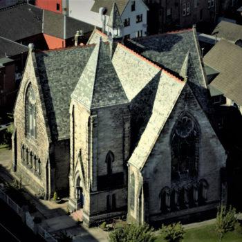Cadzow Church aerial photo
